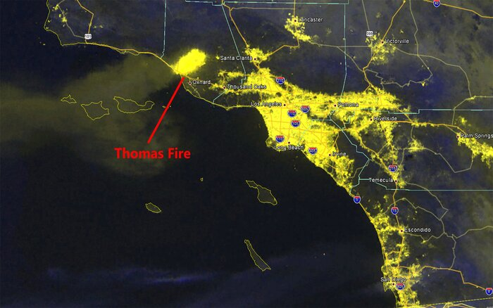 This California Wildfire Map Shows Where Fires Rapidly Spread - World satellite map with countries