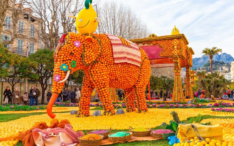 Lemon Festival (Fete du Citron) on the French Riviera, in Menton