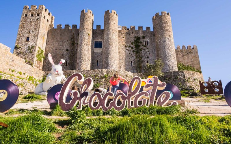 International Chocolate Festival in Obidos, Portugal