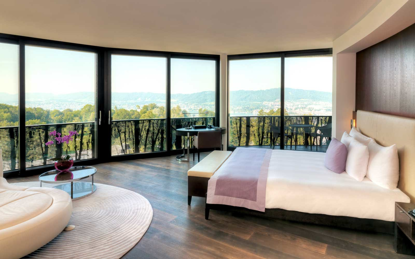 View from a room at the Dolder Grand hotel in Zurich, Switzerland
