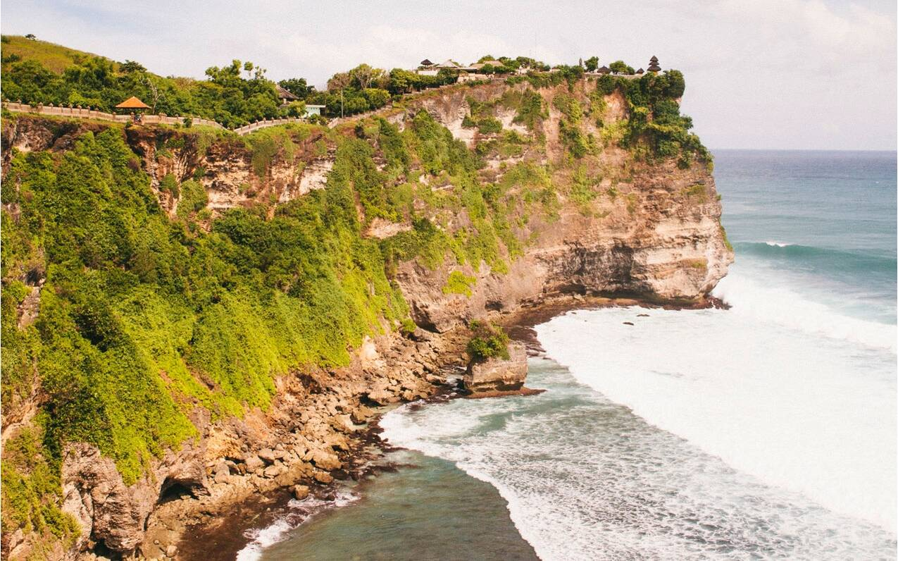 Ocean cliffs in Indonesia