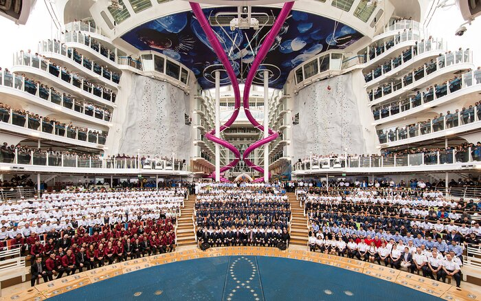 Worlds Biggest Cruise Ship Makes Its Maiden Voyage Travel Leisure - Biggest and best cruise ships