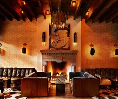 hotels with a fireplace in room. Ludlow Hotel  New York Most Romantic Fireplaces Travel Leisure