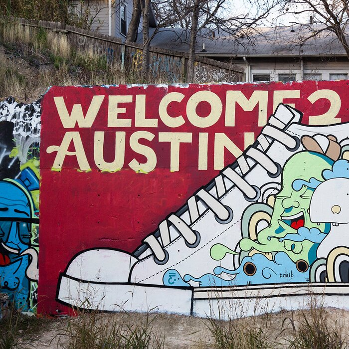 Famous murals in austin wall murals for Austin mural wall