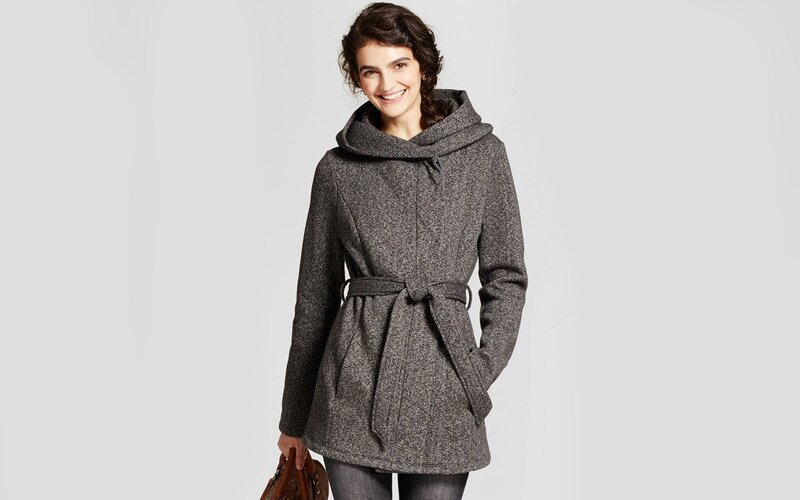 Target A New Day Wool Shawl Collar Wrap Coat