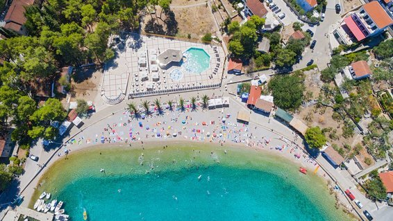 Travel reviews news guides tips travel leisure aerial view of housing estate and beach at necujam bay at solta croatia fandeluxe Image collections