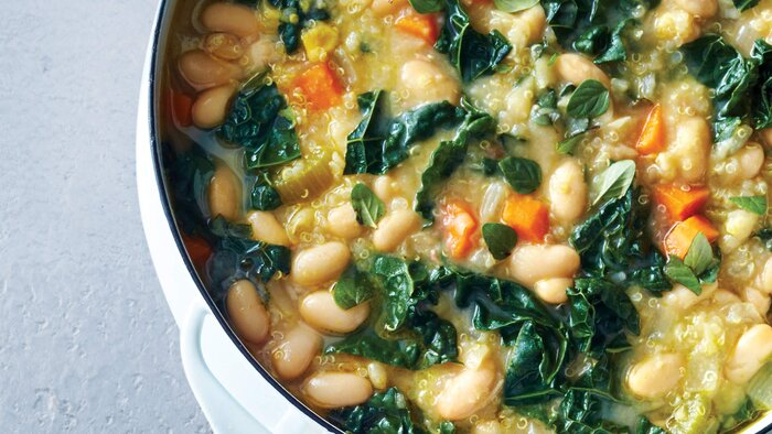 Vegetarian white bean chili recipe health vegetarian white bean chili three ways forumfinder Choice Image