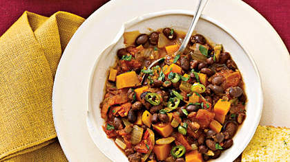 Black-Bean Chili With Winter Squash