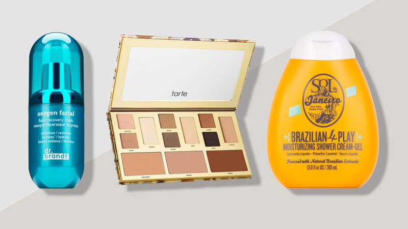 dermstore winter essentials beauty products sale tarte clay palette, sol de janeiro, dr brandt oxygen
