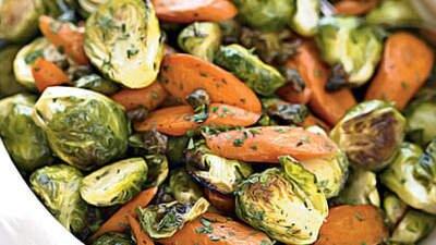 Brussel Sprouts Crispy Capers Carrots