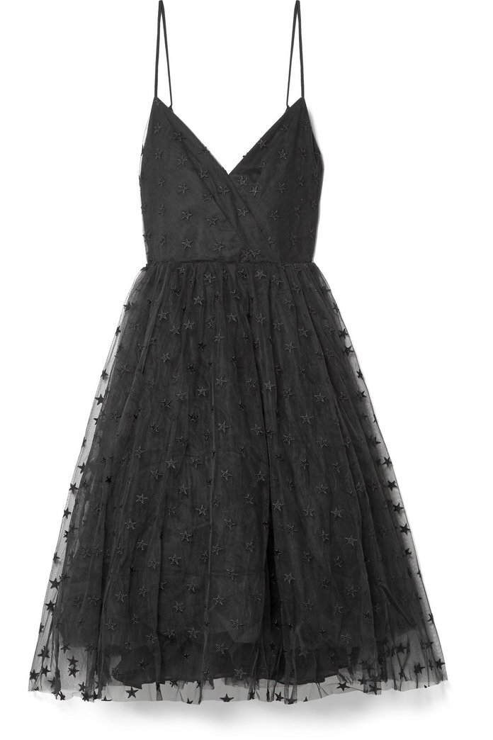 black tulle dress