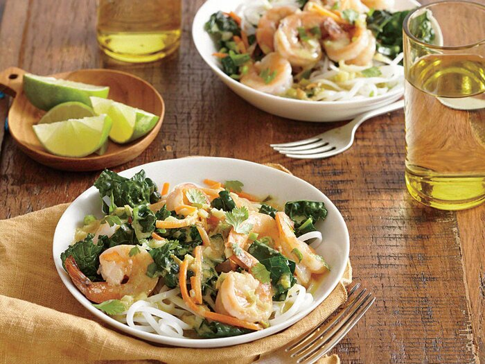 Quick and easy asian recipes cooking light thai green curry with shrimp and kale forumfinder Gallery