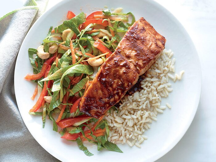 31 day healthy meal plan cooking light salmon with lime hoisin glaze with crunchy bok choy slaw forumfinder Images
