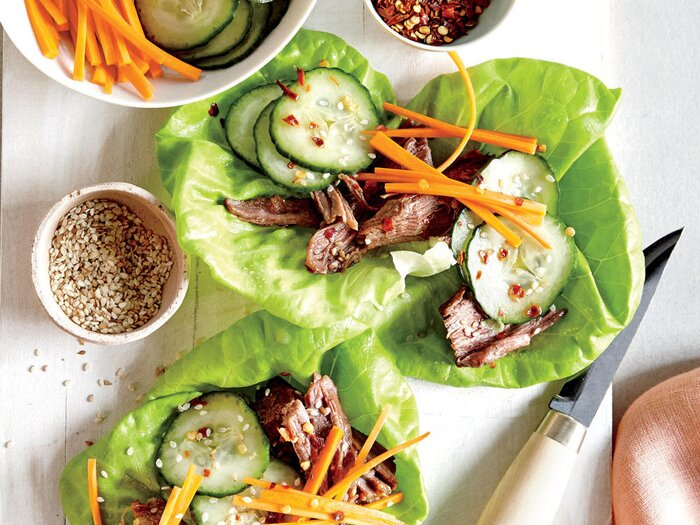 Simmer your way to dinner this summer with our seasonal slow cooker slow cooker beef lettuce wraps with quick pickles forumfinder Choice Image