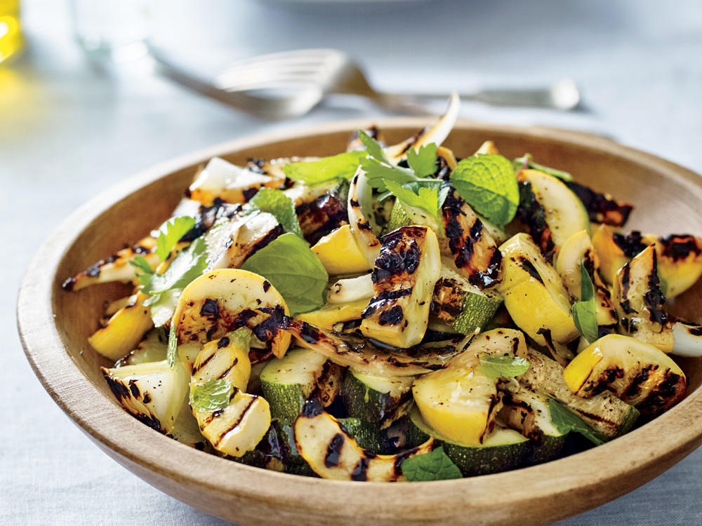 Food 1 2016 7 17 Salmon With Summer Squash Vegetables >> Summer Squash And Zucchini Recipes Cooking Light