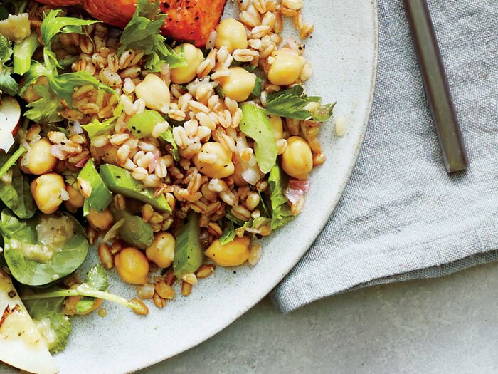 Recipes for brain health cooking light chickpea farro salad forumfinder Gallery