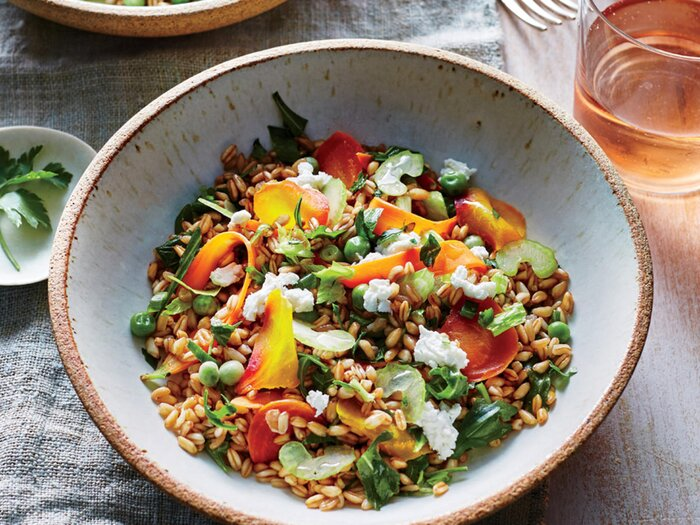 One pot vegetarian meals cooking light spring vegetable grain bowl forumfinder Images