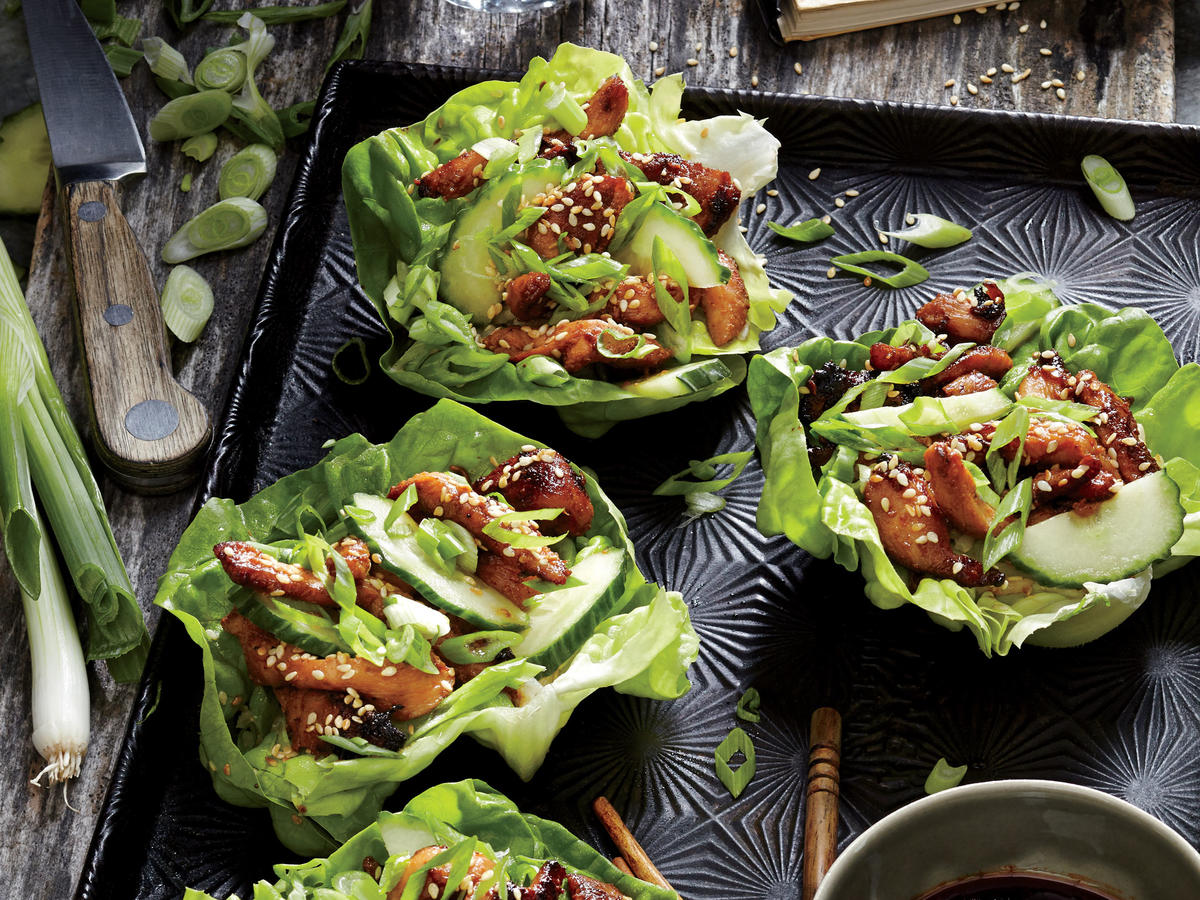 Asian Chicken Lettuce Wraps - Recipes
