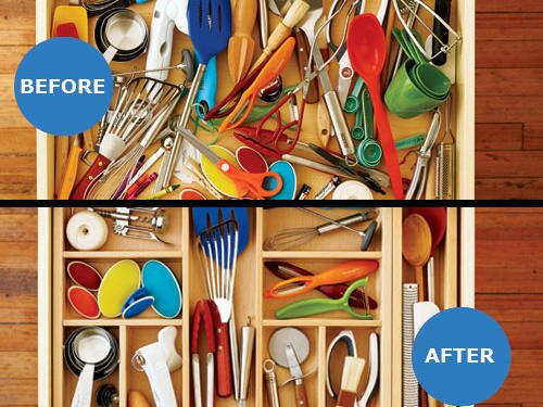 Organize Your Kitchen Drawers Organize your kitchen drawer cooking light 4 steps to organizing workwithnaturefo