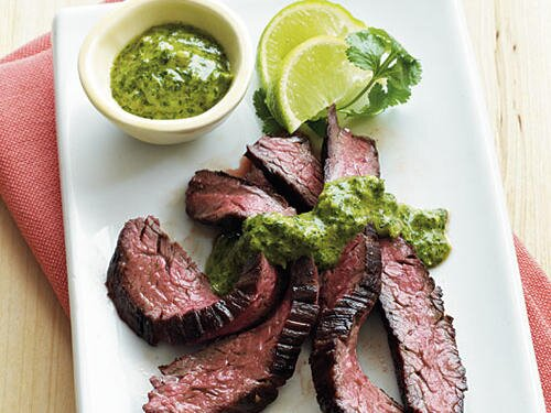 Family dinner recipes cooking light skirt steak with chimichurri sauce forumfinder Choice Image