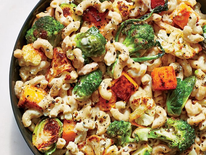 Roasted veggie mac and cheese recipe cooking light roasted veggie mac and cheese forumfinder Choice Image