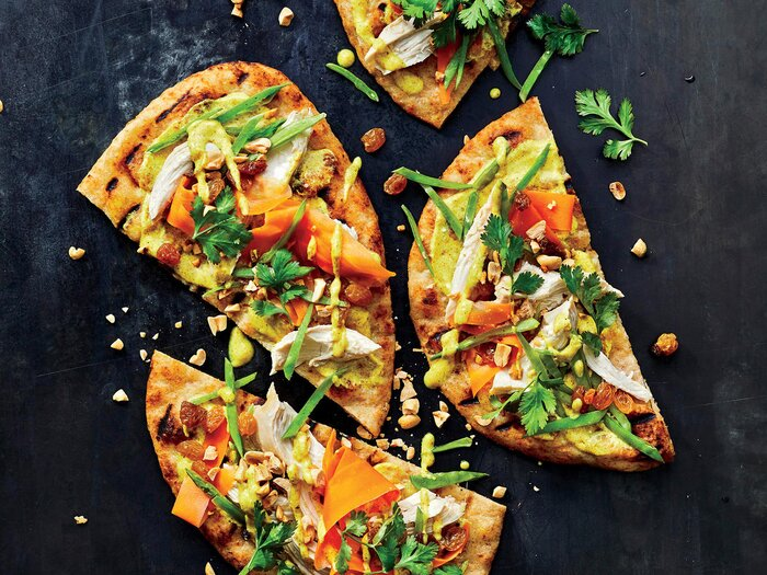 Spice up dinner with grilled chicken curry flatbreads recipe grilled chicken curry flatbreads forumfinder Image collections