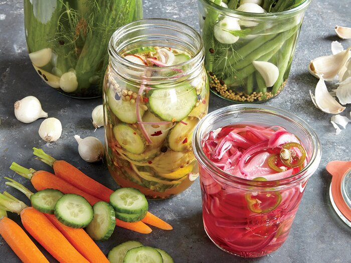 Whats the difference between fermenting and pickling cooking light pickled vegetables forumfinder Images