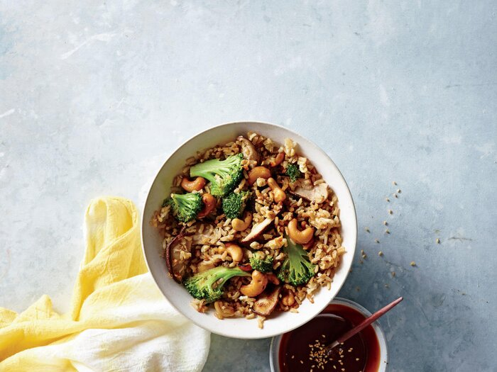 Nutty fried rice recipe cooking light nutty fried rice forumfinder Image collections