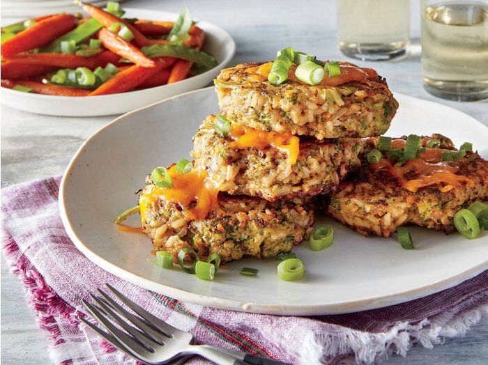 Broccoli Cheddar And Brown Rice Cakes