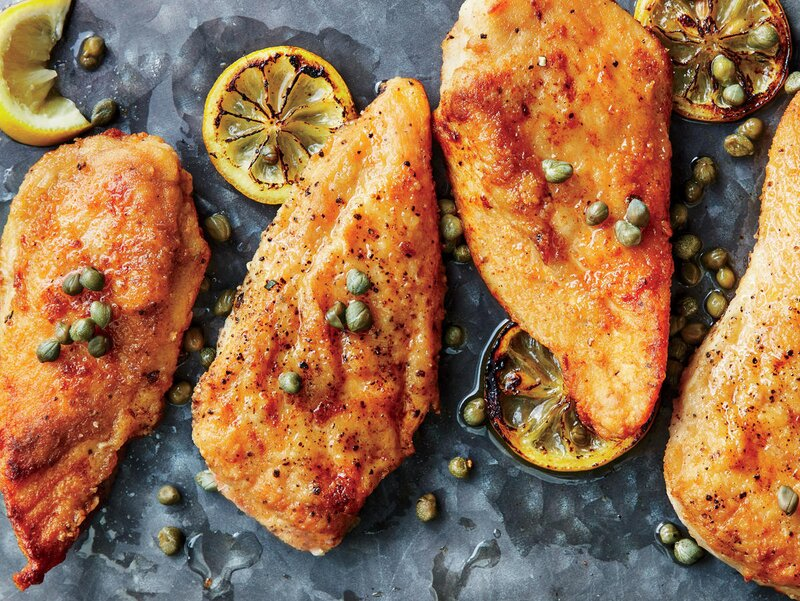 Quick Chicken Piccata with Parslied Orzo - Cooking Light