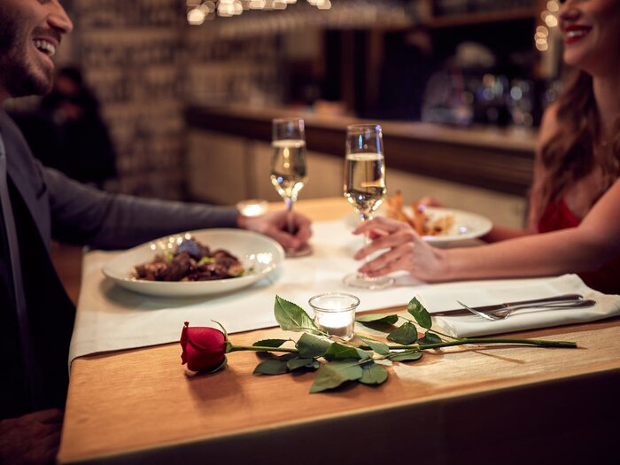 Image result for couple romantic dinner getty images