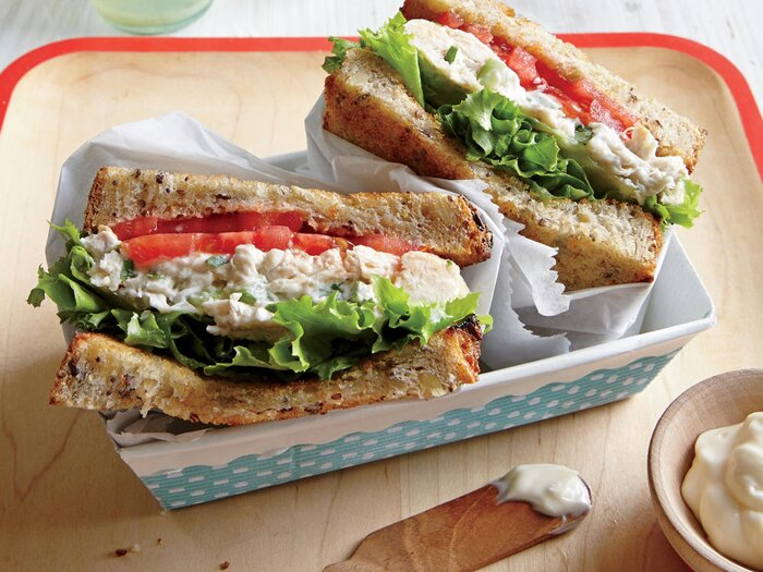 14 healthy snacks and meals that travel well cooking light tarragon chicken salad sandwiches ckg forumfinder Choice Image