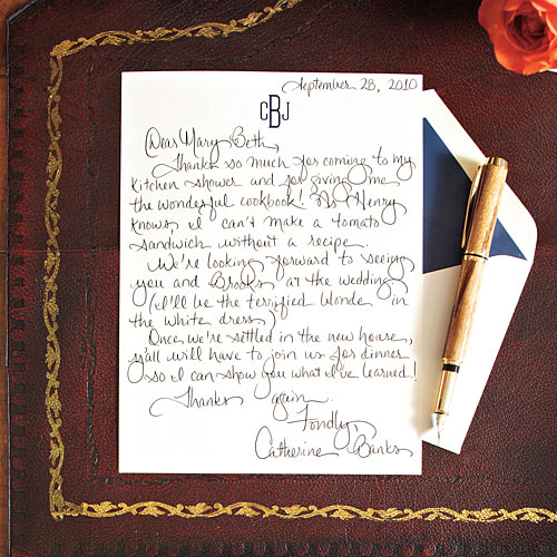 How To Write A Charming Thank You Note - Southern Living