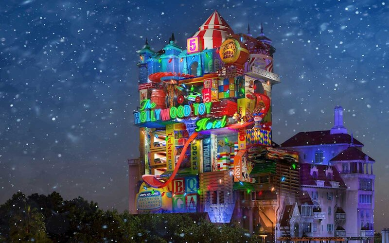 Tower of Terror changing to Hollywood Toy Hotel for Christmas