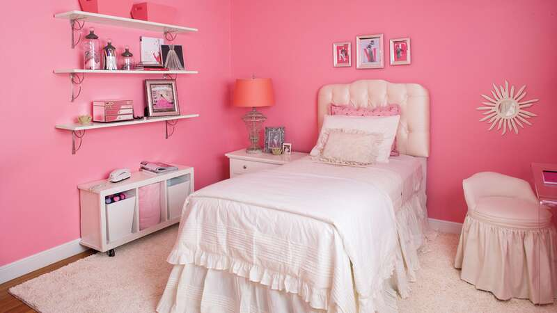 Pink Girl's Room After