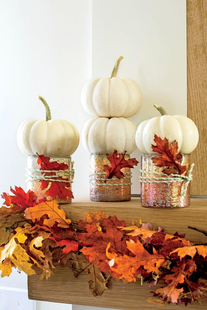 simple 10 minute rustic fall matel - Decorating For Autumn