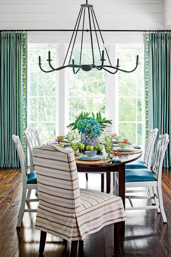 Southern living dining room living room for Living and dining room decorating ideas