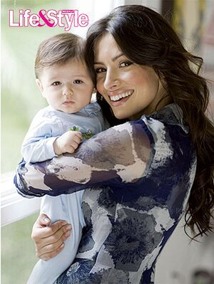 Photo of Sarah Shahi  & her Son  William Wolf Howey