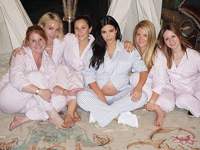 Kim Kardashian West Shows Off Burgeoning Bump At Baby Shower