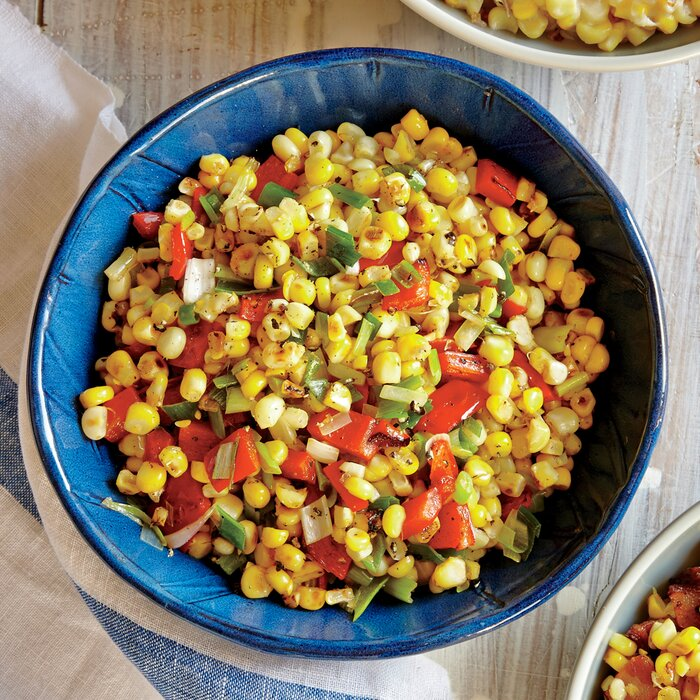 recipe: roasted corn with peppers and onions [1]