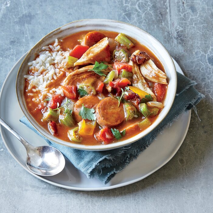 recipe: paul prudhomme chicken and sausage gumbo [29]