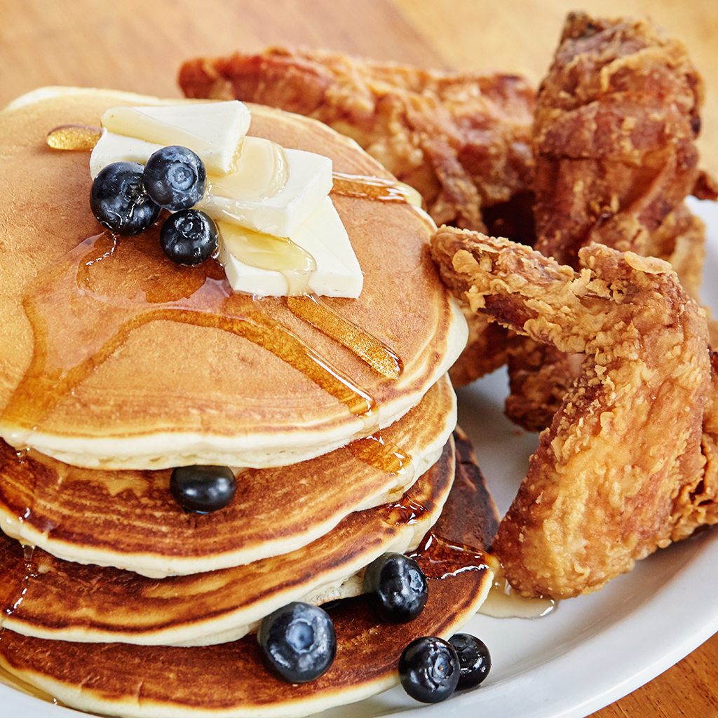 pancakes and chicken