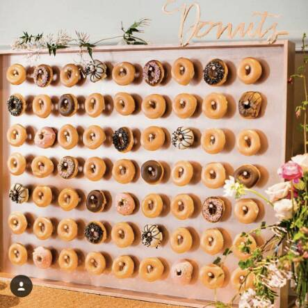 donut walls are now a thing at weddings food wine