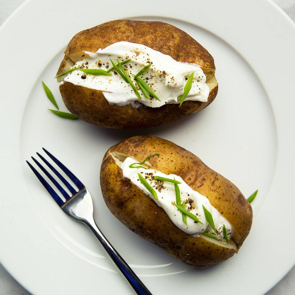 crock pot baked potatoes - Americas Test Kitchen Baked Potato