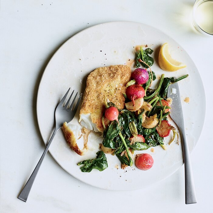 Best recipes ever easy fish food wine crusted hake with radishes and turnips forumfinder Gallery