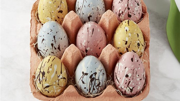 The best easter foods to order online food wine williams sonoma speckled chocolate eggs in a crate negle Image collections