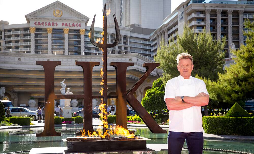 gordon ramsays first hells kitchen restaurant in las vegas - Hells Kitchen Restaurant