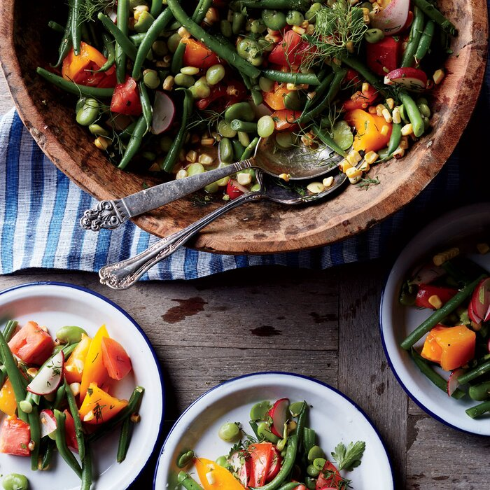 Summer salads recipes ideas food wine summer bean salad with potlikker vinaigrette forumfinder