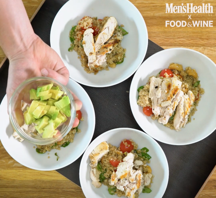 Quick easy dinner idea 4 tasty variations on a healthy grilled grilled chicken quinoa bowl recipe courtesy food wine teamed up with mens health forumfinder Choice Image