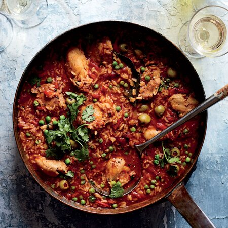 Soupy Rice With Chicken And Vegetables Recipe Jj Johnson Food Wine